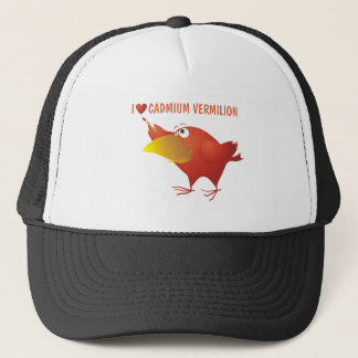 I Heart Cadmium Vermilion Trucker Hat