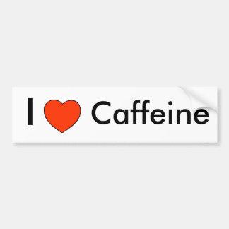 I heart Caffeine Bumper Sticker