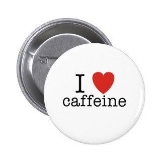 I Heart Caffeine Pinback Button