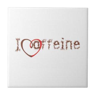 I Heart Caffeine Tile