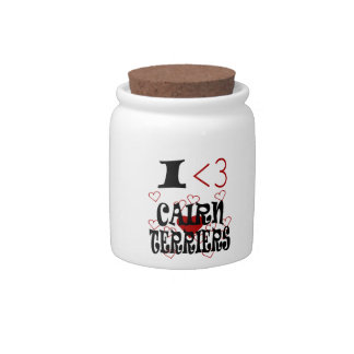 I Heart Cairn Terriers Candy Dishes