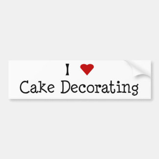 I Heart Cake Decorating Bumper Sticker