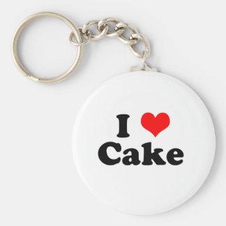 I Heart Cake Keychain