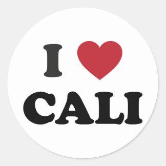 I Heart Cali Colombia Classic Round Sticker