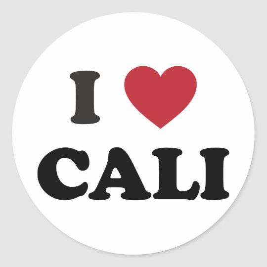 I Heart Cali Colombia Classic Round Sticker