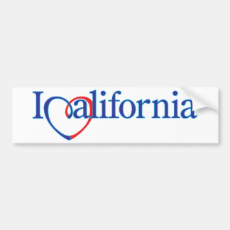 I Heart California Car Bumper Sticker