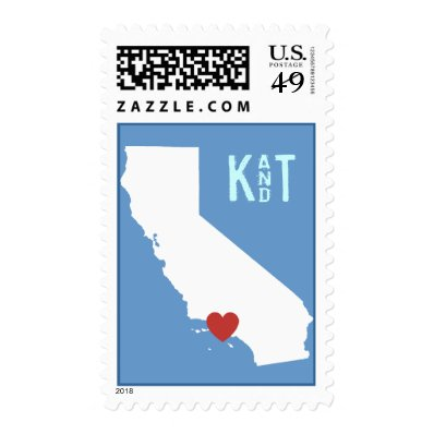 I Heart California - Customizable City Stamp
