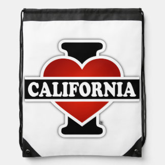 I Heart California Drawstring Bag