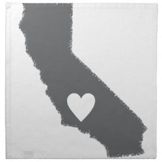 I Heart California Grunge Look Outline State Love Napkin