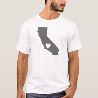 I Heart California Grunge Look Outline State Love T-Shirt