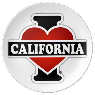 I Heart California Plate