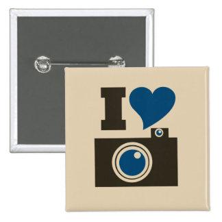 I Heart Camera 2 Inch Square Button