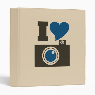 I Heart Camera 3 Ring Binder