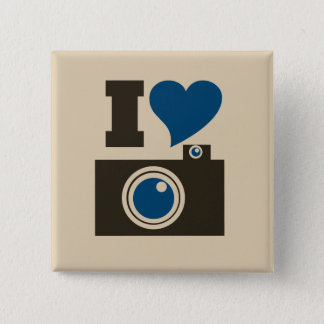 I Heart Camera Pinback Button