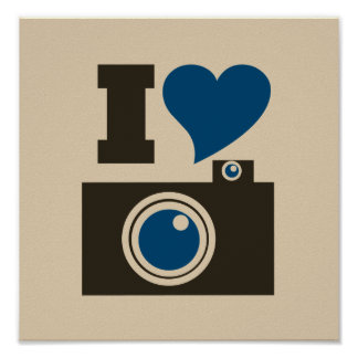I Heart Camera Poster