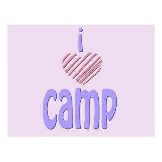 I Heart Camp Postcard