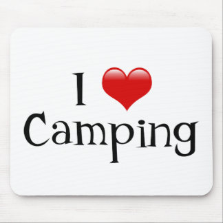 I Heart Camping Mouse Pad