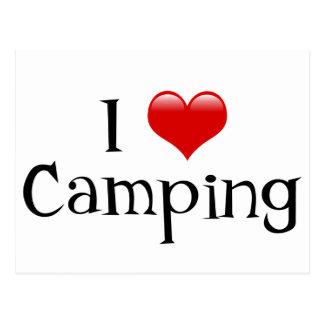 I Heart Camping Postcard