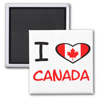 I heart Canada 2 Inch Square Magnet