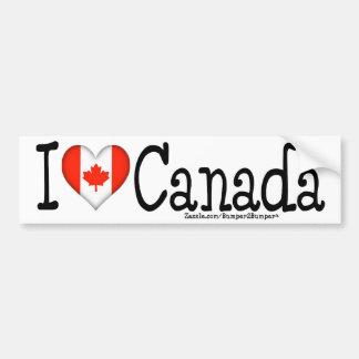 I HEART CANADA CAR BUMPER STICKER