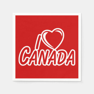 I Heart Canada Paper Napkin