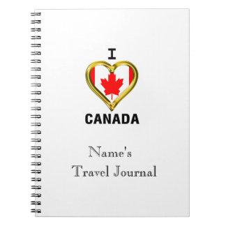I HEART CANADA SPIRAL NOTEBOOK