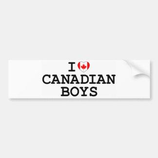 I Heart Canadian Boys Bumper Sticker