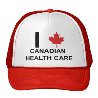 I Heart Canadian Health Care Trucker Hat
