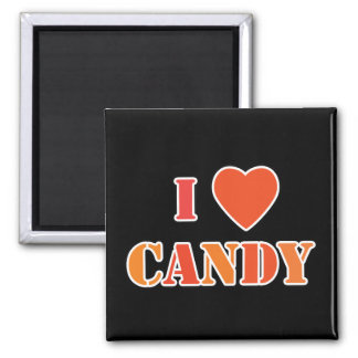 I Heart Candy 2 Inch Square Magnet