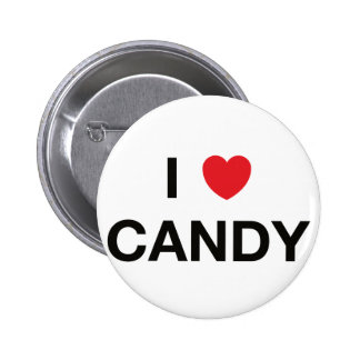 I HEART CANDY badge Pinback Button