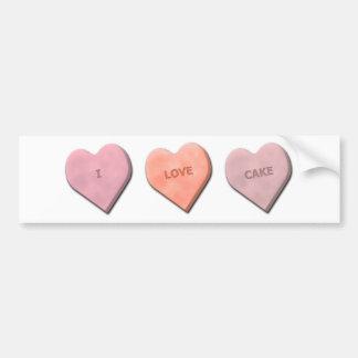 I Heart Candy! Car Bumper Sticker