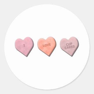 I Heart Candy! Classic Round Sticker
