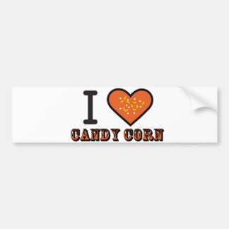 ,i heart candy corn car bumper sticker