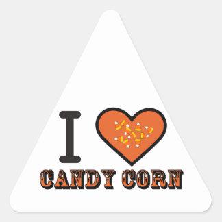 ,i heart candy corn triangle sticker