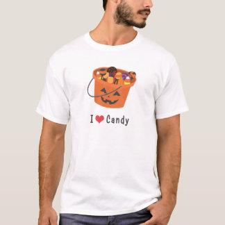 I Heart Candy (I Love Candy) Halloween Pumpkin T-Shirt