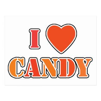 I Heart Candy Postcard