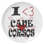 I Heart Cane Corsos Plate