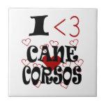 I Heart Cane Corsos Tiles