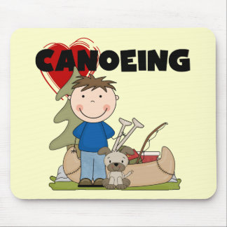 I Heart Canoeing Boy Tshirts and Gifts Mouse Pad
