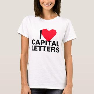 I Heart Capital Letters T-Shirt