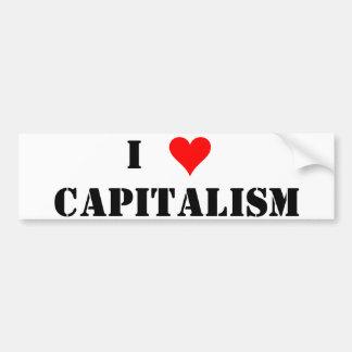 I(heart)Capitalism Bumper Sticker