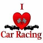I Heart Car Racing Cut Out