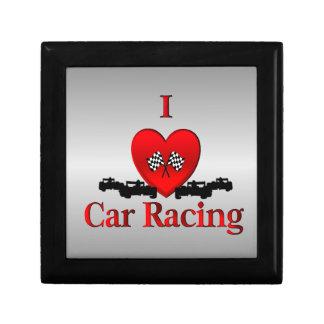 I Heart Car Racing Jewelry Box