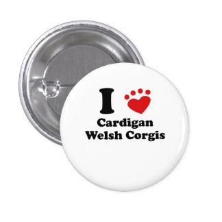 I Heart Cardigan Welsh Corgis Buttons
