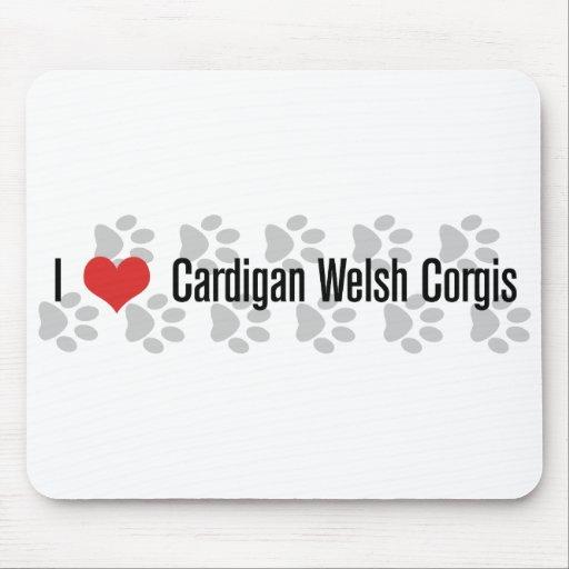 I (heart) Cardigan Welsh Corgis Mouse Pad