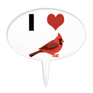 I heart Cardinals Cake Topper