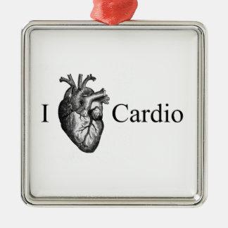 I Heart Cardio Metal Ornament