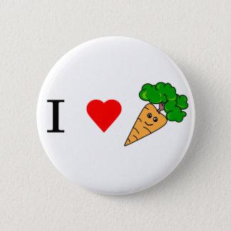 I heart Carrots Button