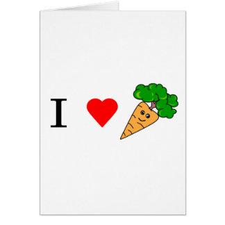 I heart Carrots Card