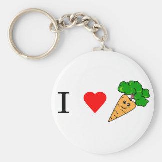 I heart Carrots Keychain